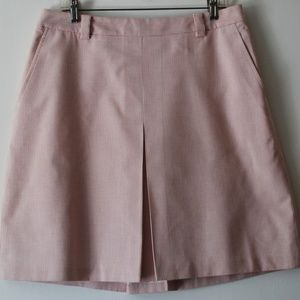 Brooks Brothers Pink White Striped A-Line Skirt 12